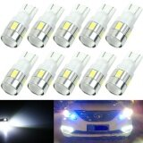 ทบทวน 10Pcs Super White T10 Wedge 6 Smd 5630 Led Light Bulbs W5W 2825 158 192 168 194 Intl