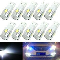 ซื้อ 10Pcs Super White T10 Wedge 6 Smd 5630 Led Light Bulbs W5W 2825 158 192 168 194 Intl จีน