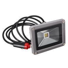 10W 12V Led Flood Spot Light Work Lamp Car Charger Waterproof For Camping Travel Pure White Intl แองโกลา