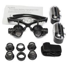 ราคา 10 X 15 X 20 X 25 X รุ่น Lednนาฬิกาแว่นตาเครื่องประดับตาสองเลนส์ซ่อมเสียงแตร จีน