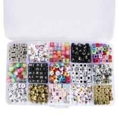 1100 ชิ้นสารพันสีลูกบาศก์และรอบตัวอักษรตัวอักษรลูกปัดตัวอักษรที่มีสีสันสำหรับสร้อยข้อมือ Diy สร้อยคอเครื่องประดับโครงการหัตถกรรม 15 สไตล์ - นานาชาติ