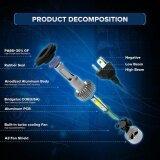 ราคา 110W H4 Cob Led 16000Lm Auto Car Headlights Kit Driving Bulbs Lamps 6000K Intl เป็นต้นฉบับ Unbranded Generic