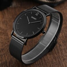 ราคา 1181 แบรนด์นาฬิกาสุดหรู 30 เมตรกันน้ำเป็นพิเศษบางนาฬิกาชายเหล็กสายสบาย ๆ นาฬิกาผู้ชายกีฬานาฬิกาข้อมือควอทซ์ นานาชาติ จีน