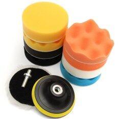 โปรโมชั่น 11Pcs 4Inch Sponge Polishing Waxing Buffing Pads Set M14 Drill For Car Polisher Intl