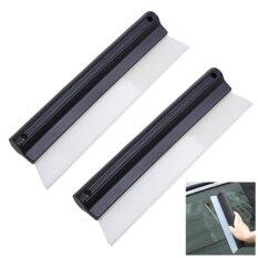 ราคา ด้ามรีดน้ำ ขนาด 10 นิ้ว 2ชิ้น Antislip Nonscratch Squeegee Car Silicone T Bar Wiper Water Blade Itp เป็นต้นฉบับ