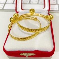 โปรโมชั่น Siampick ลดราคา ราคาถูก กำไลข้อเท้าเด็ก ลายนักกษัตริย์ 12 ราศี ชุบทองคำแท้ 96 5 ทองไมครอน ทองชุบ เศษทอง ทองปลอม หุ้มทอง ทองเค โคลนนิ่ง หนัก 1 สลึง 2 สลึง 1 บาท 2 บาท 2 กษัตริย์ 3 กษัตริย์ 2 สี สองสี แฟชั่น