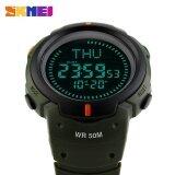 ซื้อ 1231 นาฬิกาผู้ชายนาฬิกาข้อมือโลกเวลา Dst เข็มทิศนาฬิกาปลุกดิจิตอลปฏิทิน 50 เมตรกันน้ำ Relogio Masculino กีฬานาฬิกา นานาชาติ Skmei