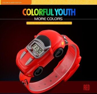 นาฬิกาข้อมือนาฬิกา 1241 แฟชั่นเด็กดูการ์ตูนรถเด็กดิจิตอลนาฬิกาสำหรับเด็กนาฬิกาข้อมือ