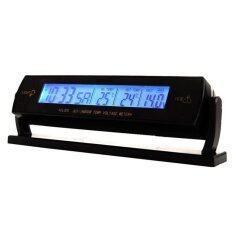 ขาย 12V Car Clock Blue Display Voltage Temperature Thermometer Alarm Monitor Battery Unbranded Generic ออนไลน์