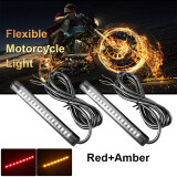ส่วนลด 12V Universal Motorcycle 17 Led 2835 Smd Led Strip Tail Light Red Amber Ma617 Xcsource ฮ่องกง