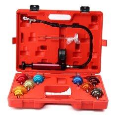โปรโมชั่น 14 Pc Radiator Pressure Tester Pump Leak Cooling System Checker Aluminum Adapter Intl จีน
