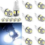 ซื้อ 15X T10 5050 W5W 5 Smd 194 168 Led White Car Side Wedge Tail Light Lamp Bulb 12V Intl Fashiondoor ออนไลน์