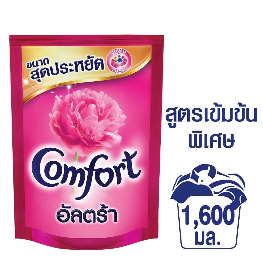 Comfort Ultra Fabric Softener Pink 1600 Ml. คอมฟอร์ท อัลตร้า น้ำยาปรับผ้านุ่ม สีชมพู 1600 มล. By Lazada Retail Unilever Home.