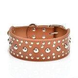 ขาย 18 24 46 60Cm Leather Studded Large Dog Pet Collar L Brown Intl