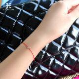 ขาย สร้อยข้อมือเชือกเทียนถัก สีแดงของผู้หญิง ประดับเพชร Chaelri Unbranded Generic เป็นต้นฉบับ