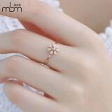 ราคา Meibu 18K สหรัฐเหล็กไทเทเนียมกุหลาบชุบทองแหวนแหวนเดซี่ ใน ฮ่องกง