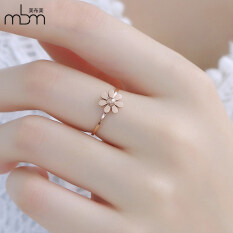 ราคา Meibu 18K สหรัฐเหล็กไทเทเนียมกุหลาบชุบทองแหวนแหวนเดซี่ Unbranded Generic ฮ่องกง