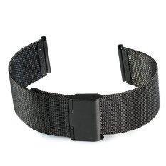 ขาย ซื้อ 18Mm Stainless Steel Mesh Bracelet Watch Band Replacement Strap For Men Women Black ใน จีน