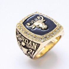 ทบทวน ที่สุด 1991 Nba Basketball Chicago Bulls Championship Ring Gold Plated Men Jewelry Intl