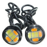 ซื้อ 1Pair 12V Dc 23Mm 5730 6 Led Eagle Eye Daytime Running Dual Color Drl Car Light Intl Unbranded Generic ออนไลน์