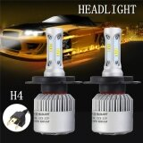 ราคา ราคาถูกที่สุด 1Pair H4 432W 43200Lm Led Headlight Lamp Kits Hi Lo Dual Beam Hid 6000K Bulbs Intl