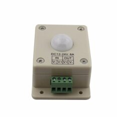 ส่วนลด 1Pc Sensor Switch Dc 12V 24V 8A Automatic Infrared Pir Motion Sensor Switch Detector Led Light Intl ฮ่องกง