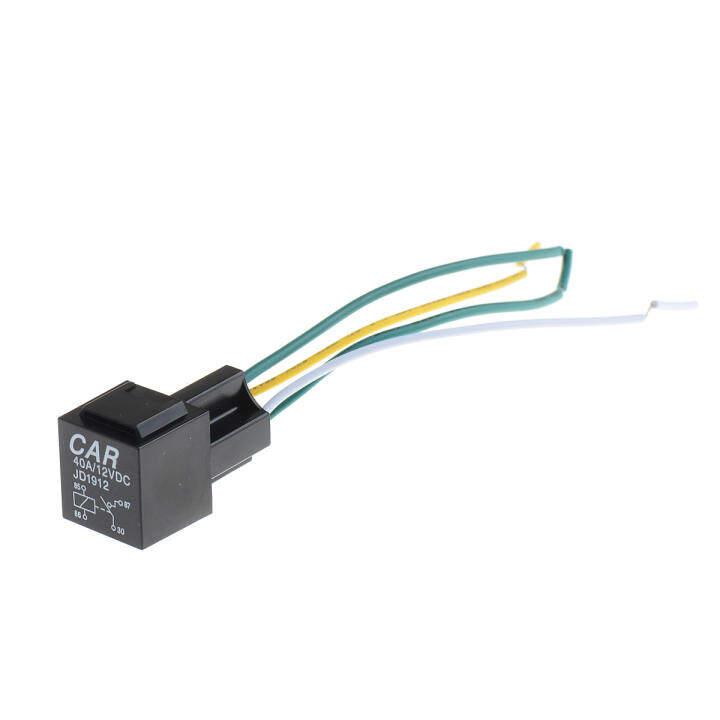 โปรโมชั่น 12v 30A Automotive Auto Relay 4 Pin Relay Socket Holder