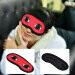 ซื้อ 1Pcs Cute Cartoon 3D Red Eyes Cover Eye Relax Blinder Eyeshade Soft Portable Outdoor Travel Sleeping Mask Rest Blindfolds Eyepatch ถูก ใน จีน