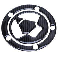 1Pcs Oil Gas Tank Carbon Fiber Fuel 5 Bolt Pad Cover Protector Sticker For Kawasaki Intl ใน จีน