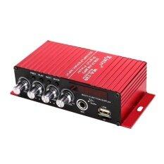 2 ช่องเครื่องขยายเสียงเสียงเครื่องขยายเสียงเบสซับวูฟเฟอร์สีแดง - นานาชาติ By Burstore.