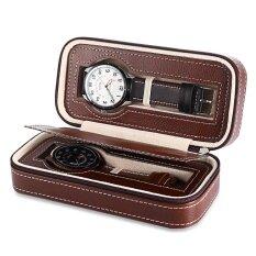 ซื้อ 2 Grids Pu Leather Travel Watch Storage Case Zipper Wristwatch Box Organizer Intl Unbranded Generic เป็นต้นฉบับ