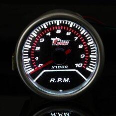 ราคา ราคาถูกที่สุด 2 Inch 52Mm Universal Red Led Tachometer Car Gauge Meter 10000Rpm Intl
