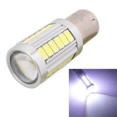 ขาย ซื้อ ออนไลน์ 2 Pcs 1156 16 5W 990Lm 6500K White Light 5630 Smd 33 Led Car Brake Steering Light Bulb Dc12V Intl