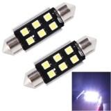 ราคา 2 Pcs 39Mm Festoon 3W 300Lm White Light 6 Led 3030 Smd Canbus Error Free Car Reading Lamps Dc 12 24V Intl Sunsky ออนไลน์