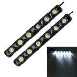 ซื้อ 2 Pcs 6W 180 Lm 6000K Drl Daytime Running Light With 6 Smd 5050 Lamps Dc 12V White Light Intl ใหม่