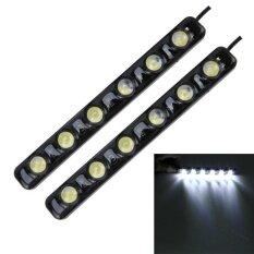 ราคา 2 Pcs 6W 180 Lm 6000K Drl Daytime Running Light With 6 Smd 5050 Lamps Dc 12V White Light Intl ใหม่ล่าสุด
