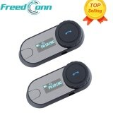ราคา 2 Pcs Freedconn Tcom Sc Bt Bluetooth Motorcycle Helmet Intercom Interphone Headset With Lcd Screen Fm Radio Intl