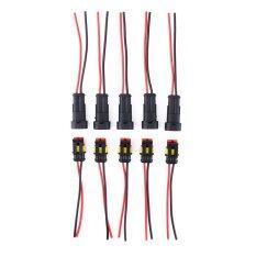 ส่วนลด 2 Pin Way Car Waterproof Electrical Connector Plug With Wire Awg Marine Set Of 5 Unbranded Generic