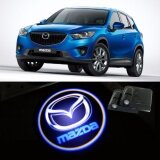 2 X Wireless Led Car Door Warning Light With Projector Logo Welcome Ghost Shadow Light For Mazda Intl ใน จีน