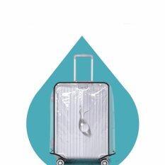 พลาสติกใสคลุมกระเป๋าเดินทาง 20-22 นิ้ว กันเปื้อน กันริ้วรอยและกันน้ำ Pvc Cover  .