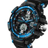 โปรโมชั่น 2016 Best Quality Sanda 289 Fashion Outdoor Multifunctional Sports Men S Electronic Watch Blue ใน จีน