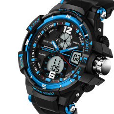 ขาย 2016 Best Quality Sanda 289 Fashion Outdoor Multifunctional Sports Men S Electronic Watch Blue ออนไลน์ จีน