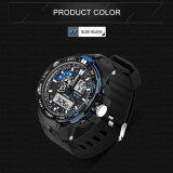ซื้อ 2016 Best Quality Sanda 737 Men S Fashion Outdoor Sports Waterproof Noctilucent Watch Blue ออนไลน์ จีน