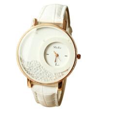 ซื้อ 2016 Hot Women S Quicksand Leather Band Watches Analog Quartz Wrist Watch White