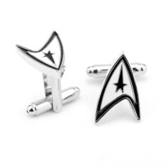 ราคา 2016 New Star Trek Beyond Alloy 2 3X1 3Cm Cufflinks For Mens Communicator Modeling Cuff Buttons Anime Accessory Shirt Cuff Links ออนไลน์