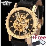 ซื้อ 2016 Watches Men Luxury Brand Winner Military Sports Skeleton Automatic Mechanical Wristwatches Leather Strap Relogio Masculino Intl ออนไลน์