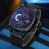 ขาย 2017 Luxury Brand Naviforce Stainless Steel Analog Men S Quartz Date Clock Fashion Casual Sports Watches Men Military Wrist Watch Intl ใน จีน