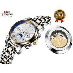 ขาย 2017 นาฬิกาข้อมือสุดหรูแบรนด์ยอดนิยม Tevise ผู้ชายกีฬานาฬิกา Mens นาฬิกาอัตโนมัตินาฬิกาข้อมือดวงจันทร์ Tevise เป็นต้นฉบับ