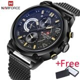 ซื้อ 2017 Naviforce Luxury Brand Men S Analog Quartz 24 Hour Date Watch นาฬิกาข้อมือ Es Man 3Atm Waterproof Clock Men Sport Full Steel Wrist Watch นาฬิกาข้อมือ