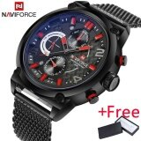 ขาย 2017 Naviforce Luxury Brand Men S Analog Quartz 24 Hour Date Watch นาฬิกาข้อมือ Es Man 3Atm Waterproof Clock Men Sport Full Steel Wrist Watch นาฬิกาข้อมือ ใน จีน